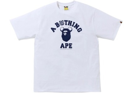 Bape x Medicom Toy College Bear Tee (FW20) White (FW20)の写真