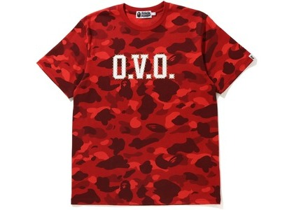 Bape x OVO Color Camo Tee Red (FW20)の写真