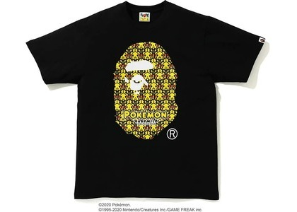 Bape x Pokemon Ape Head Tee #1 Black (FW20)の写真