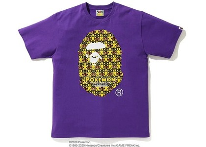 Bape x Pokemon Ape Head Tee #1 Purple (FW20)の写真