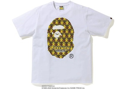 Bape x Pokemon Ape head Tee #1 White (FW20)の写真