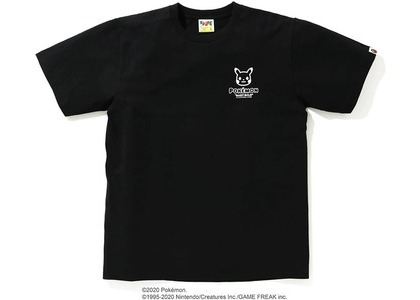 Bape x Pokemon Monotone Ape Head Tee #1 Black (FW20)の写真