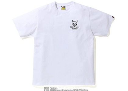 Bape x Pokemon Monotone Ape Head Tee #1 White (FW20)の写真
