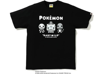 Bape x Pokemon Monotone Starters Tee #3 Black (FW20)の写真