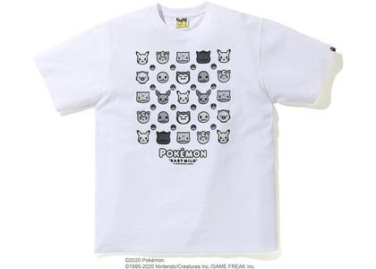 Bape x Pokemon Monotone Tee #4 White (FW20)の写真