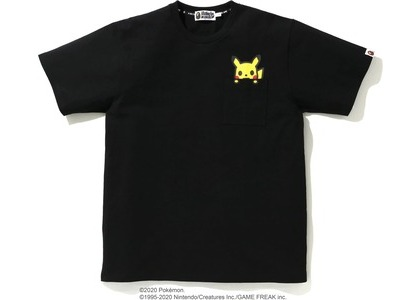 Bape x Pokemon Pikachu Pocket Tee Black (FW20)の写真