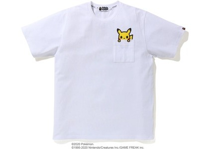 Bape x Pokemon Pikachu Pocket Tee White (FW20)の写真