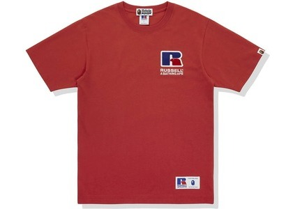 Bape x Russell College Tee Red (FW20)の写真