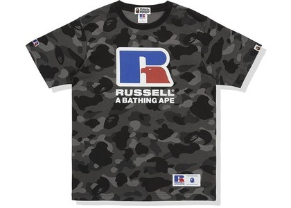Bape x Russell Color Camo Tee Black (FW20)の写真