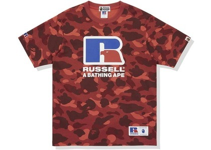 Bape x Russell Color Camo Tee Red (FW20)の写真