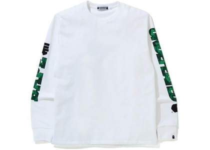 Bape x Undefeated 1 Long Sleeve Tee White (FW20)の写真