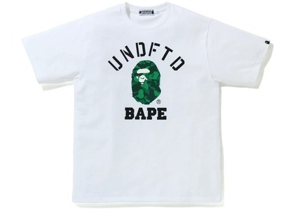 Bape x Undefeated College Tee White (FW20)の写真