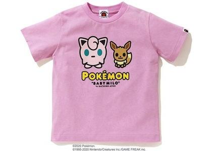 Bape x Pokemon Ladies Jigglypuff & Eevee Tee #4 Pink (FW20)の写真