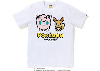 Bape x Pokemon Ladies Jigglypuff & Eevee Tee #4 White (FW20)の写真