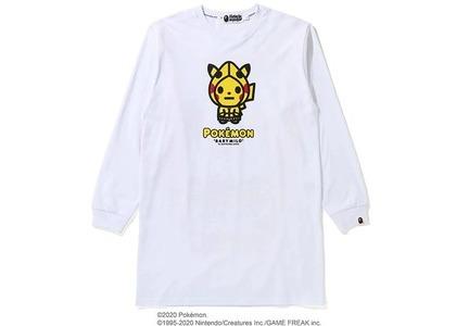 Bape x Pokemon Ladies Pikachu L/S Tee Onepiece White (FW20)の写真