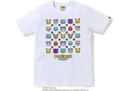 Bape x Pokemon Ladies Tee #6 White (FW20)の写真