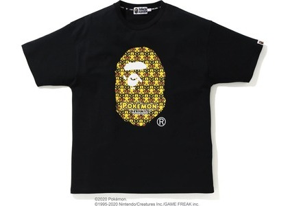 Bape x Pokemon Oversized Ladies Ape Head Tee #1 Black (FW20)の写真
