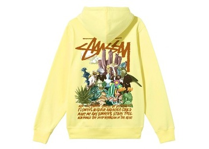 Stussy Psychedelic Hood Yellow (SS21)の写真