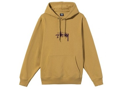 Stussy Stock Logo Embroidered Hoodie Brown (SS21)の写真