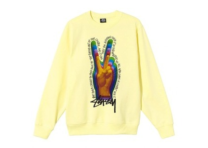 Stussy Peace Sign Crew Natural (SS21)の写真