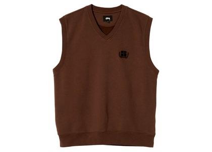 Stussy S Leaf Vest Brown (SS21)の写真