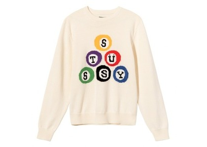 Stussy Stüssy Billiard Sweater White (SS21)の写真