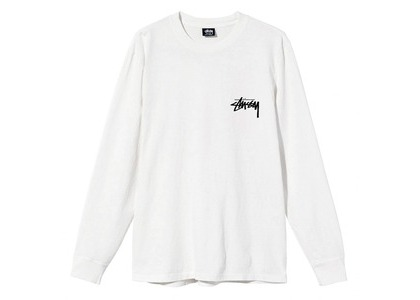 Stussy Spring Weeds Pigment Dyed LS Tee White (SS21)の写真