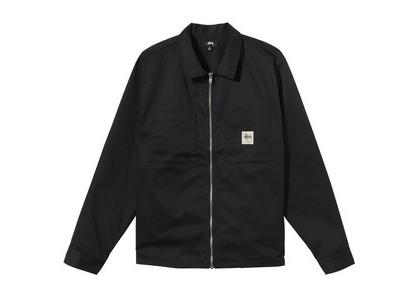 Stussy Zip Up Work LS Shirt Black (SS21)の写真