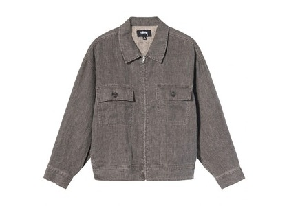 Stussy Boxy Linen Zip Jacket Gray (SS21)の写真