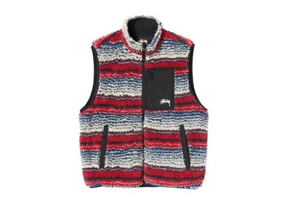 Stussy Striped Sherpa Vest Stripe (SS21)の写真