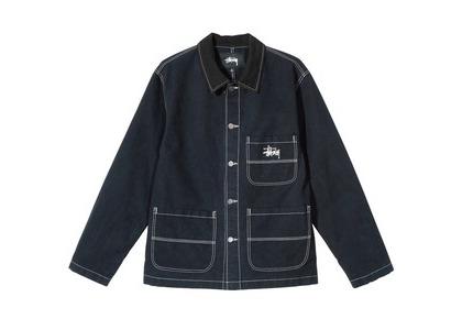 Stussy Brushed Moleskin Chore Jacket Black (SS21)の写真