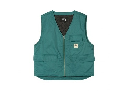 Stussy Insulated Work Vest Green (SS21)の写真