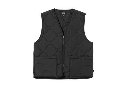 Stussy Quilted Liner Vest Black (SS21)の写真