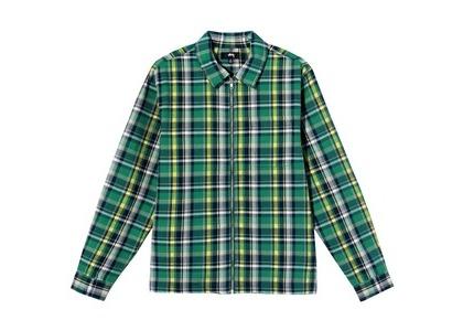 Stussy Classic Zip Up Plaid LS Shirt Check (SS21)の写真