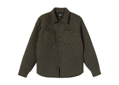 Stussy Mini Check Quilted Zip Shirt Gray (SS21)の写真