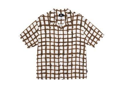 Stussy Hand Drawn Grid Shirt Brown (SS21)の写真
