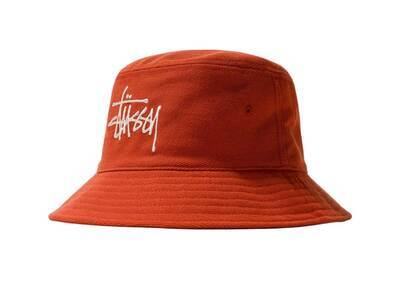 Stussy Big Logo Twill Bucket Hat Red (SS21)の写真