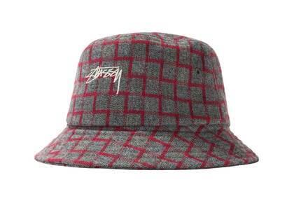 Stussy Brent Check Wool Bucket Hat Gray (SS21)の写真