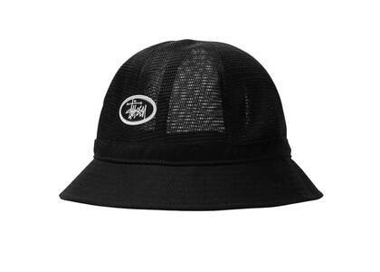 Stussy Mesh Crown Bell Bucket Hat Black (SS21)の写真