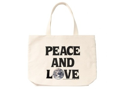 Stussy Peace And Love Canvas Tote Bag White (SS21)の写真