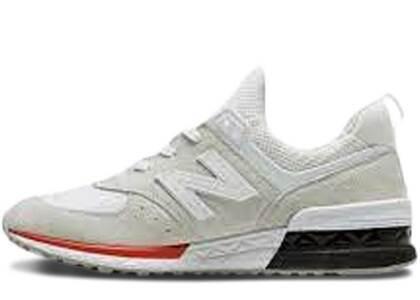 New Balance 574 Sport White Redの写真