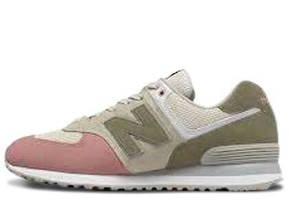 New Balance 574 Pink Oliveの写真