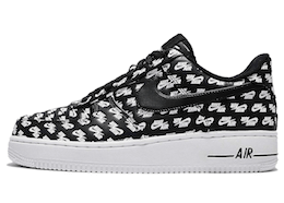 Air Force 1 Low All Over Logo Blackの写真