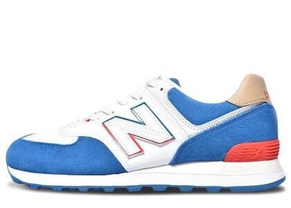 New Balance 574 White Blue Redの写真