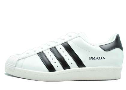 Prada × Adidas Superstar Core White の写真