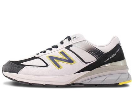 New Balance 990v5 Silver Black Yellowの写真