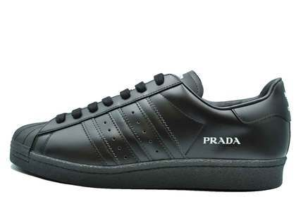 Prada × Adidas Superstar Core Blackの写真