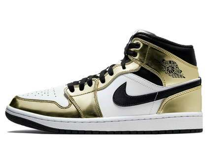 Nike Air Jordan 1 Mid SE Metallic Goldの写真