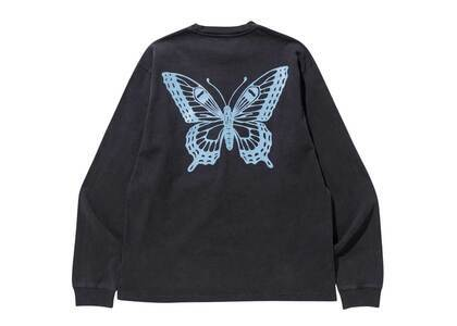Girls Don't Cry GDC Butterfly Long Sleeve Washed Black/Baby Blueの写真