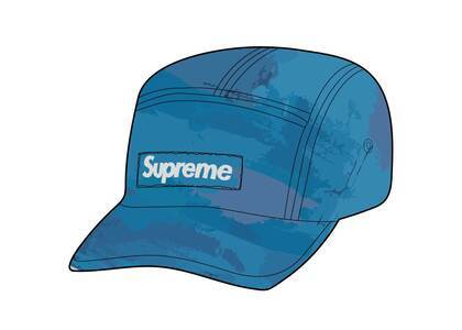 Supreme Reflective Dyed Camp Cap Blue (SS21)の写真
